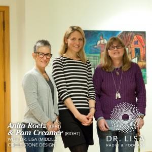 Anita Roelz, Dr. Lisa Belisle, and Pam Creamer