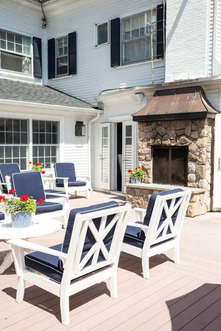 The Kennebunkport InnMaine s New Passion Projects   The Maine Mag. Porch Dining Room Kennebunkport. Home Design Ideas