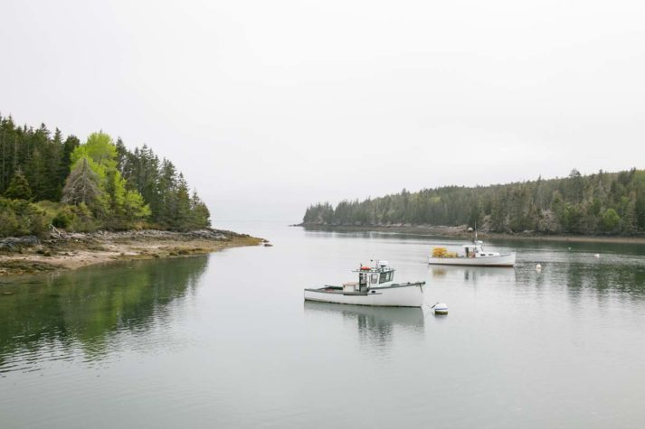 Lobster boats in Isle Au Haut