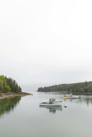 Lobster boats on Isle Au Haut