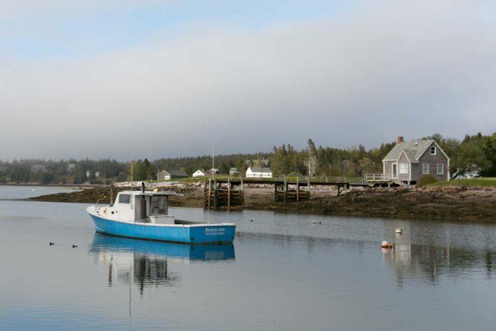 Lobster boat on Isle Au Haut