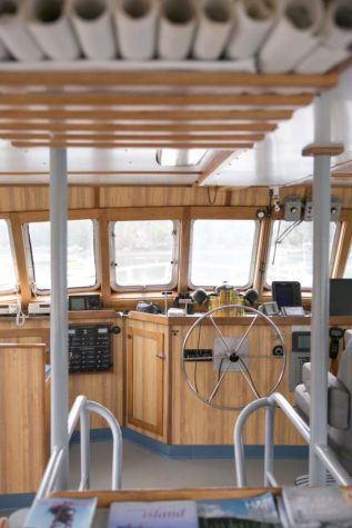 Top deck, captains quarters on Sunbeam