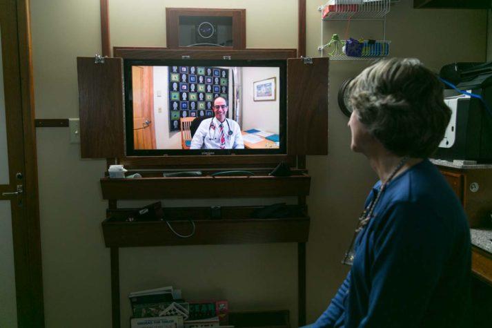 Nurse Sharon Daley video conference