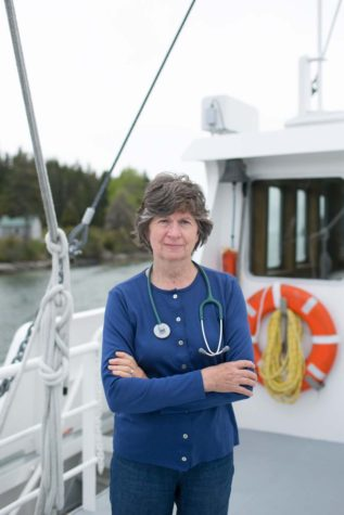 Nurse and director of Island health services, Sharon Daley