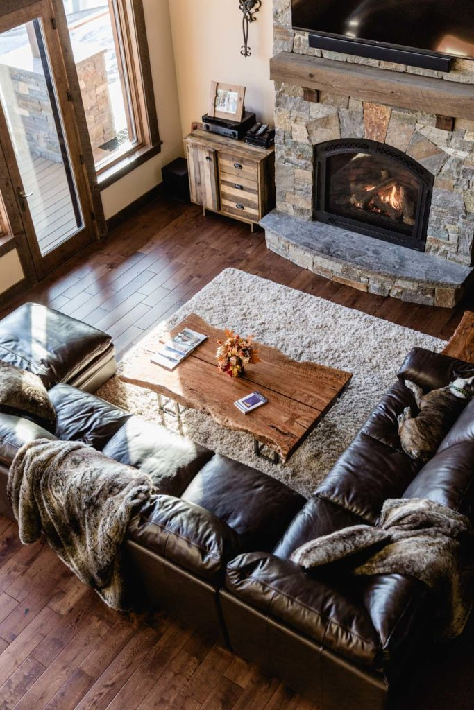 Charming Stacey And Rob Edelstein Get Cozy On The Second Story Porch Of Their Sunday  River Vacation Home. After A Long Day Of Skiing And Snowshoeing, ...