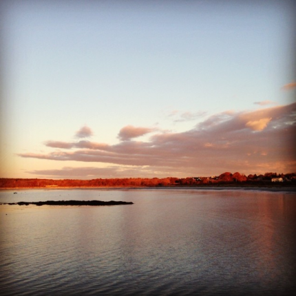 Maine Sunset over Casco Bay
