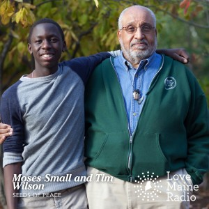 Moses Small, a junior at Portland High and a Maine Seed in Seeds of Peace Program & Tim Wilson, Special Advisor to Seeds of Peace