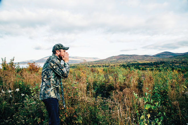 With Moosehead Lake In Fall As The Backdrop, Chris Young Calls To Entice A  Bull Moose. Heu0027s The Founder Of Youngu0027s Guide Service In Greenville.