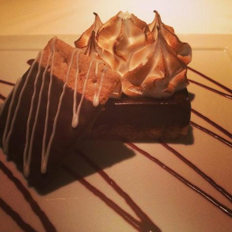 Smores for dessert at the Spruce Point Inn