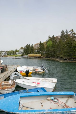 Dinghys at Isle Au Haut