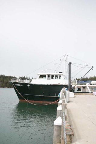 the sunbeam docked at isle au haut