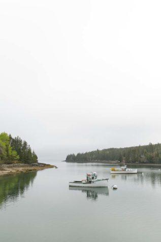 Lobster boats on Isle Au Haut