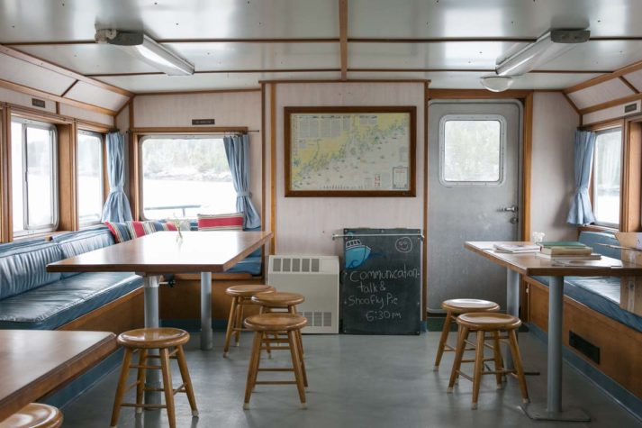The main room/galley on the Sunbeam.