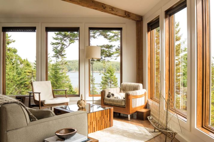 midcentury modern design living room