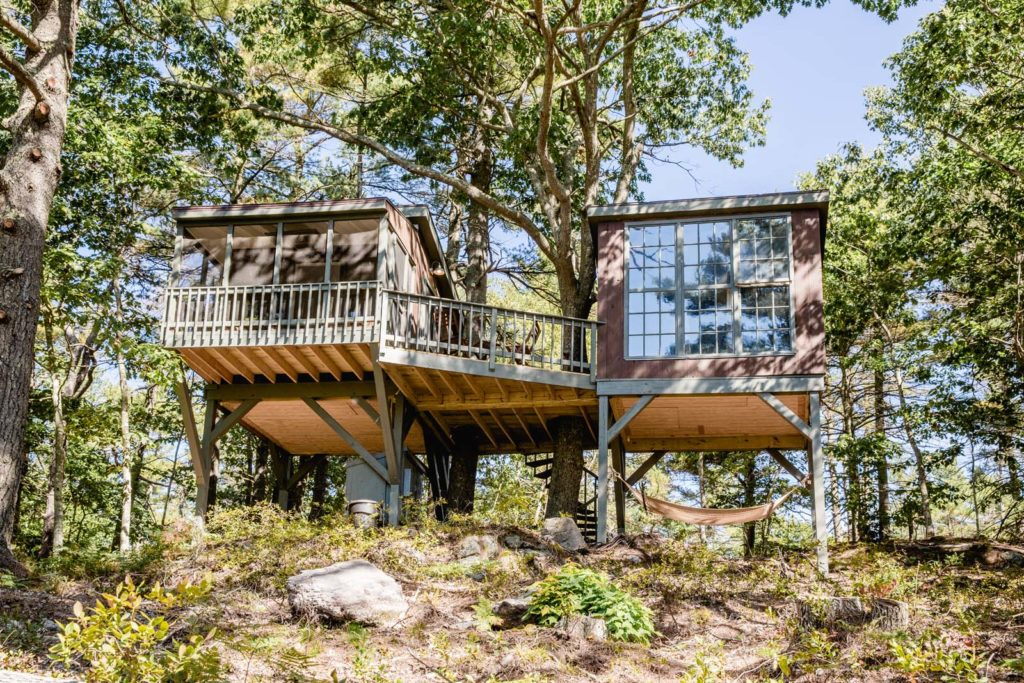 The Tree Dwellings Were Designed By Marsha Dunn And Constructed By Loren  Francis. They Sit On A Long Slope Of Woodland Overlooking The Back River In  ...
