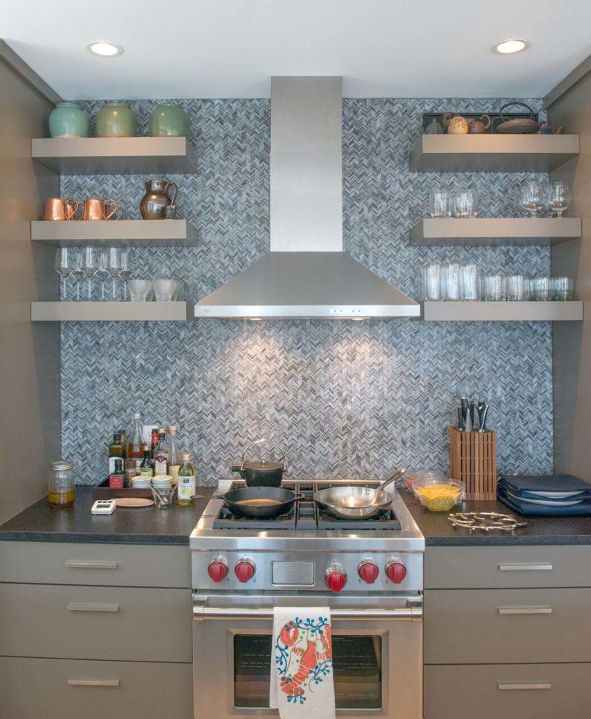 A Wolf Range Is The Centerpiece Of Andrewsu0027s Kitchen.