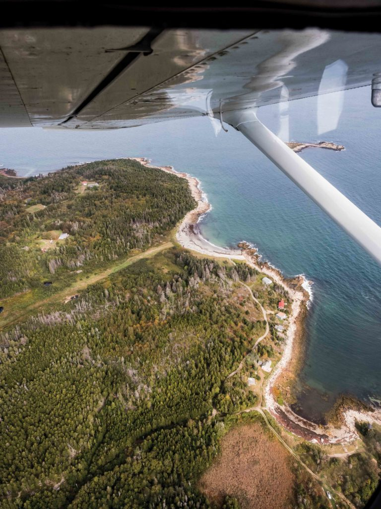 Our First View Of Matinicus, Its Curving Shoreline, And The Airstrip Where  Weu0027ll Land. The Isle Is Perched At The Edge Of Penobscot Bay And The Open  ...