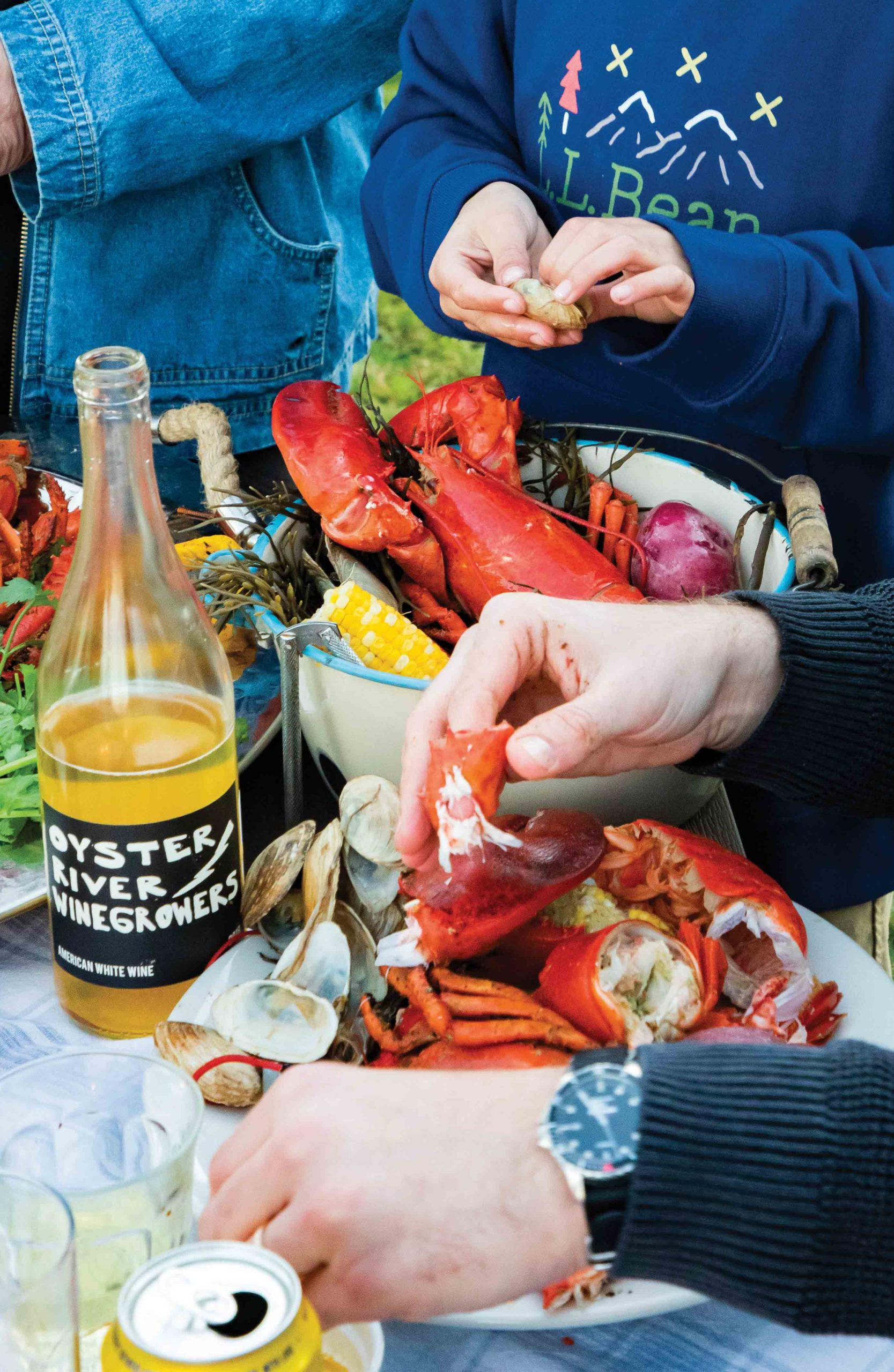 Summer Party Lobster Boil Clam Bake in ...