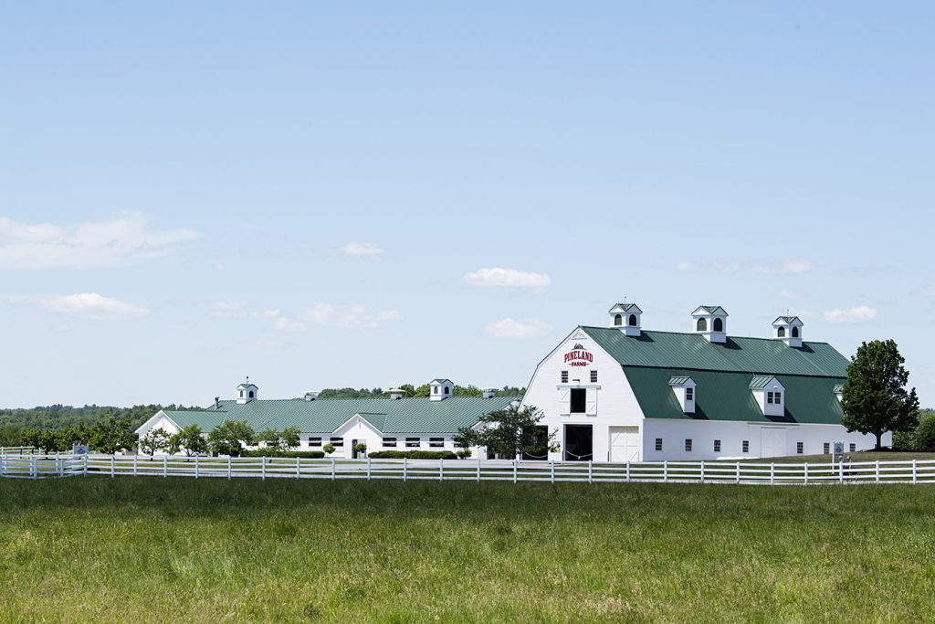 The old creamery where cheese making began is now home to Pineland Farm's meat operation in Maine.