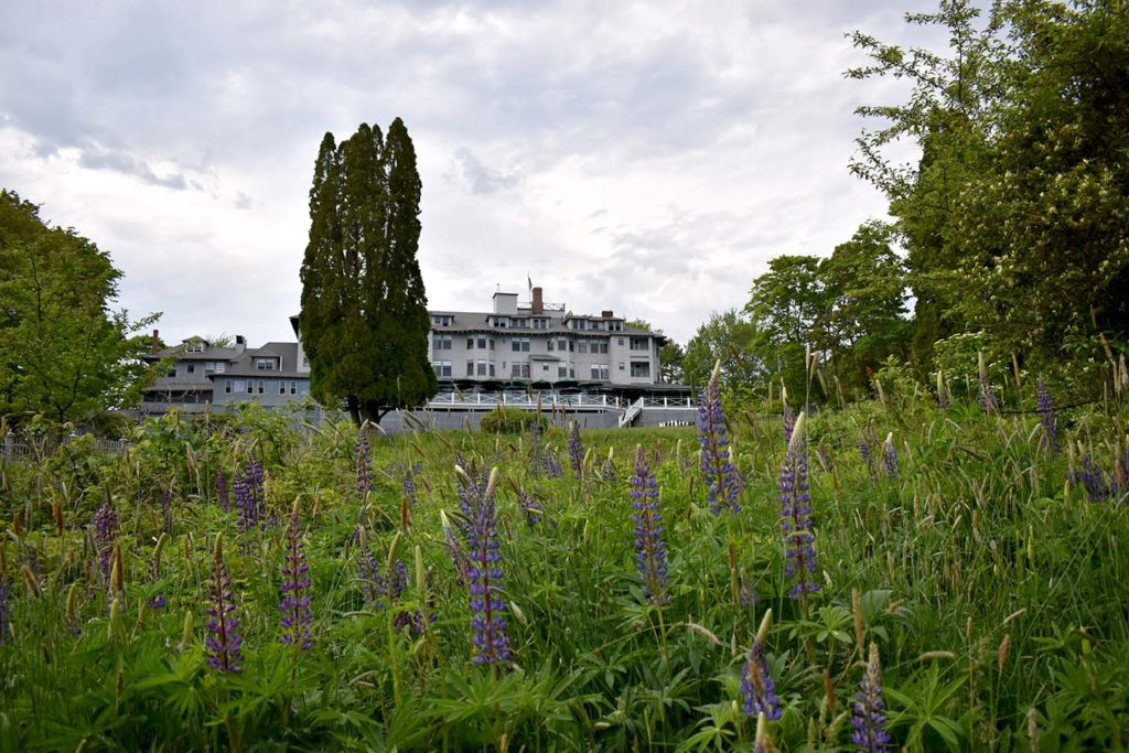 The Asticou Inn on Mount Desert Island was originally opened in 1883 and rebuilt in 1901 after a fire.