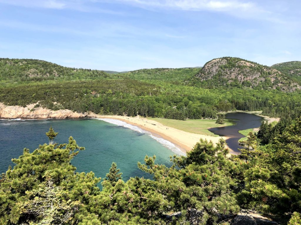 The best view of Sandy Beach and the Beehive can be found on Great Head Trail on Mount Desert Island