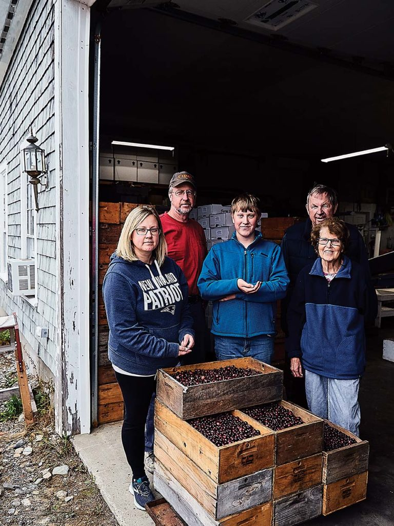 Anna Hammond Emerson, Courtney Hammond, Ashton Hammond, Robert Hammond, and Helene Hammond of Lynch Hill Farms, Maine.