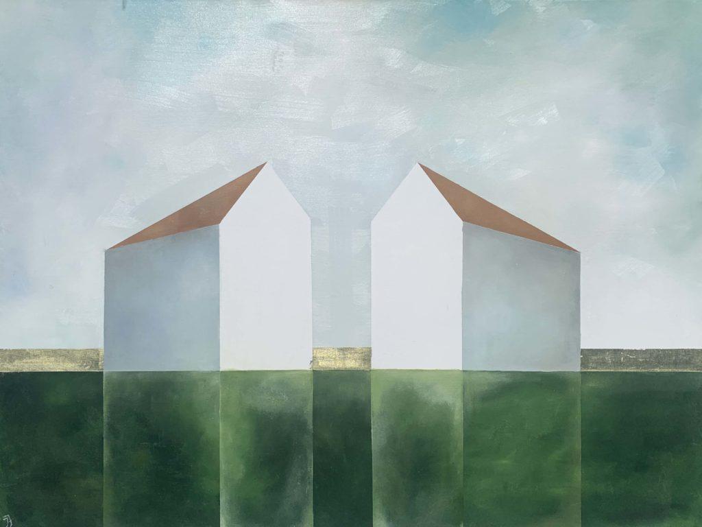 Facing Each Other by Maine artist, Ingunn Milla Joergensen