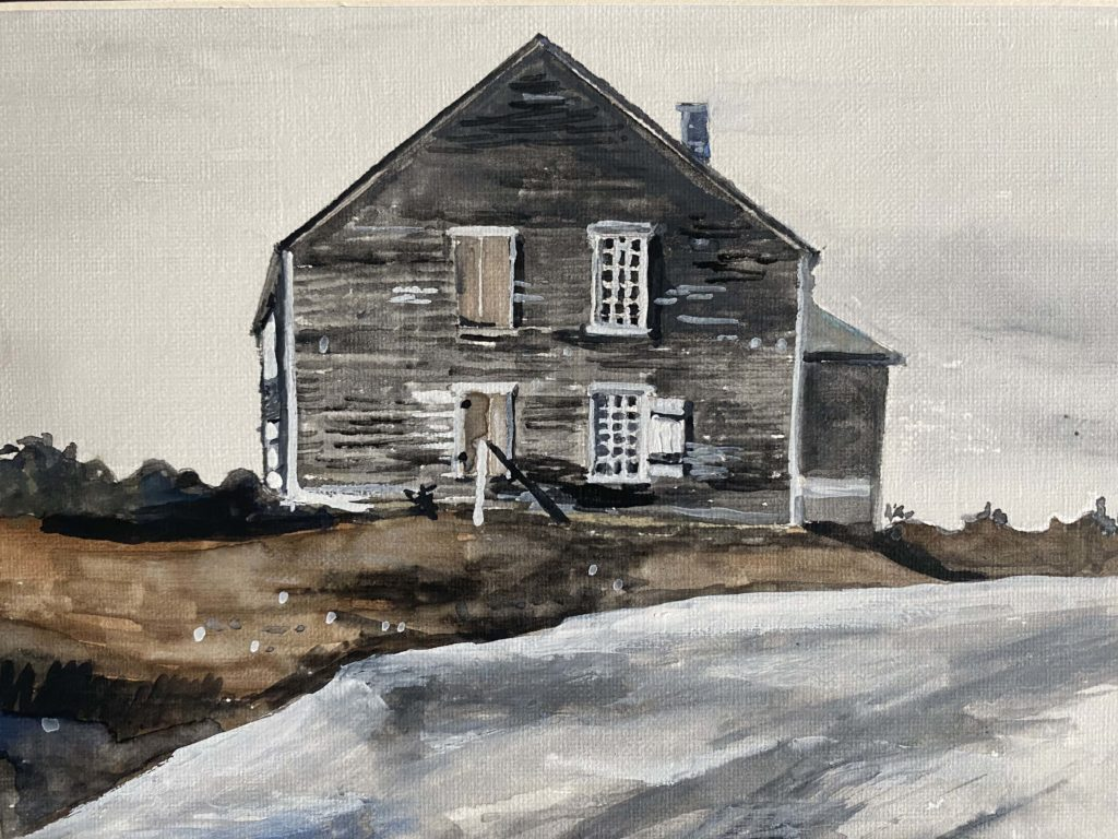 The Town House by Maine artist, Anthony Pierce