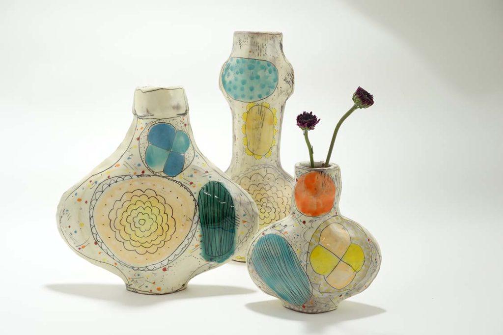 Shape Vases by Maine artist Kari Radasch