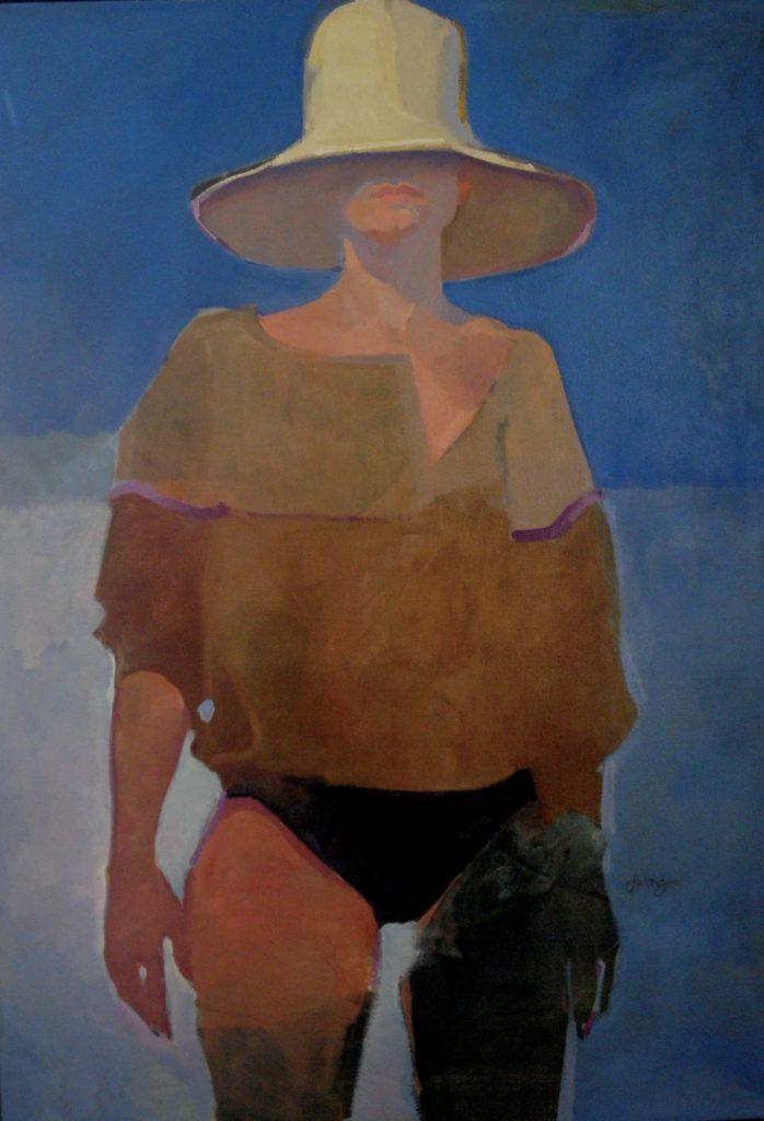 Beach Hat by Maine artist, Pamela dulong Williams
