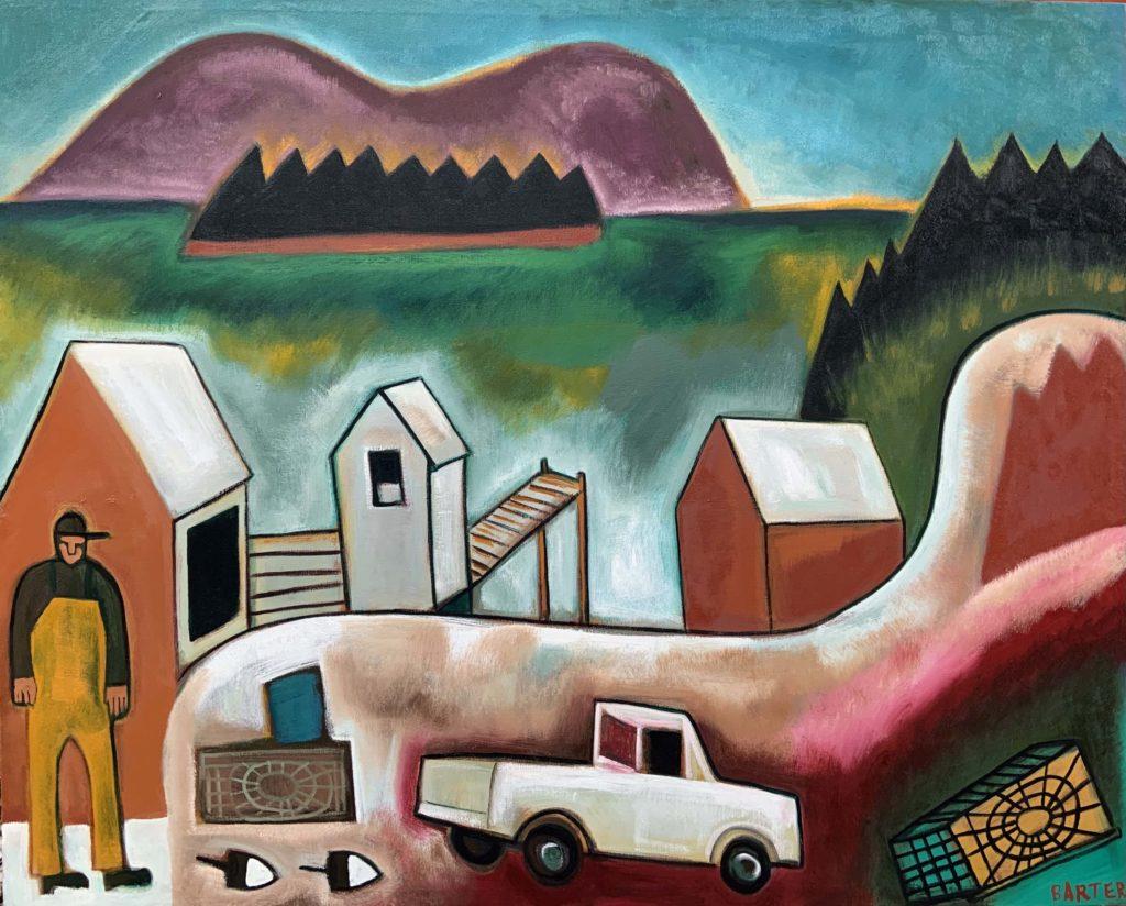 South Gouldsboro Village by Maine artist, Matt Barter