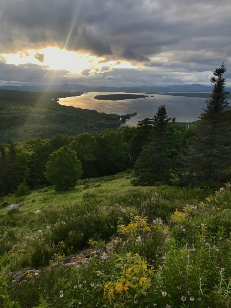 The vista at the Height of Land on the Rangeley Lakes National Scenic Byway.